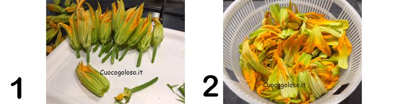 FOTOPASSAGGI-1 Spaghetti con Pesto di Fiori di Zucca al Profumo di Basilico