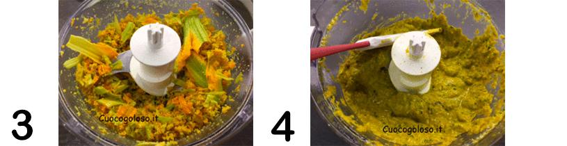 FOTOPASSAGGI-2 Spaghetti con Pesto di Fiori di Zucca al Profumo di Basilico