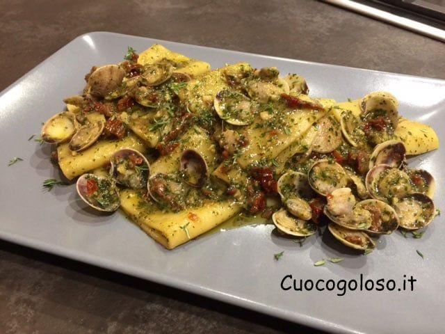 paccheri-vongole.6 Paccheri con Lupini, Pesto e Pomodori Secchi