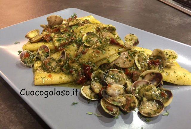 paccheri-vongole.8 Paccheri con Lupini, Pesto e Pomodori Secchi