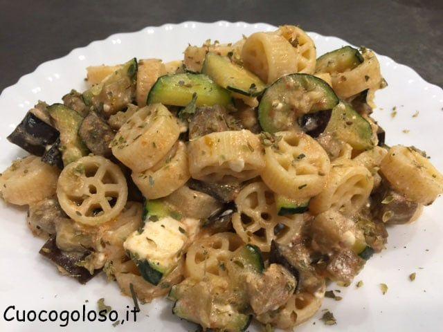 rotelle.5 Rotelle con Zucchine, Melanzane e Feta