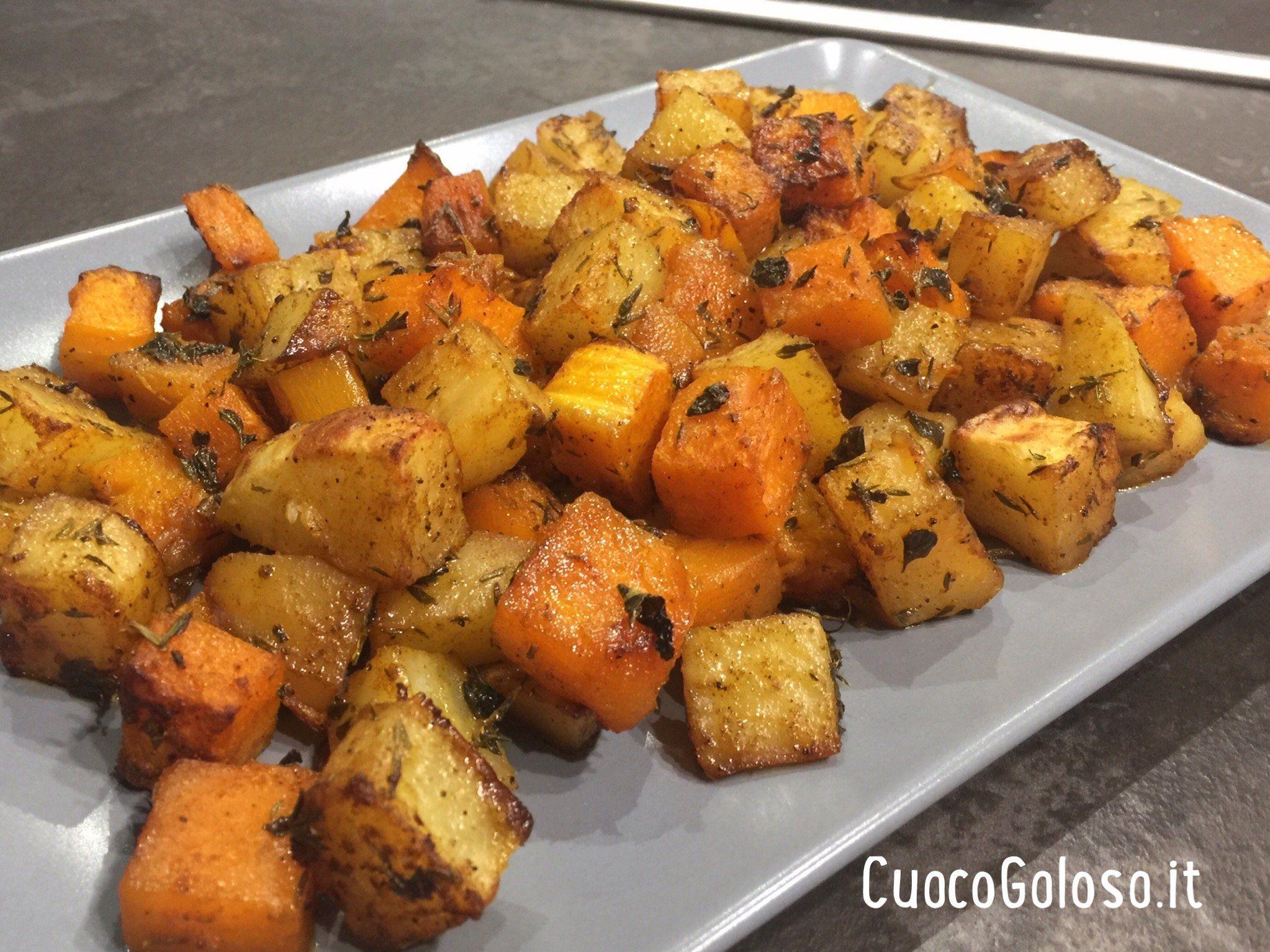Accoppiata di Patate e Zucca al Forno