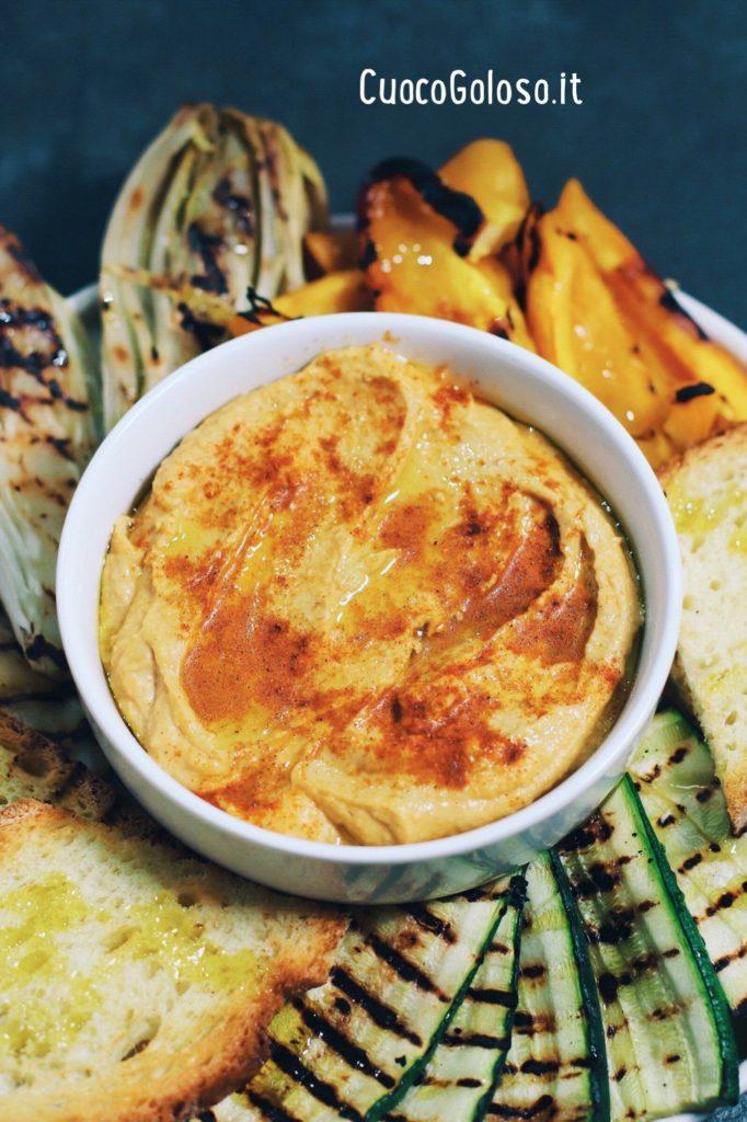 960159AC-734C-467B-8848-862E09E0D25A-682x1024 Hummus di Ceci con Verdure grigliate e Crostoni di pane
