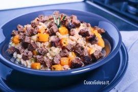 Zuppa Cremosa di Farro, Zucca e Rosmarino