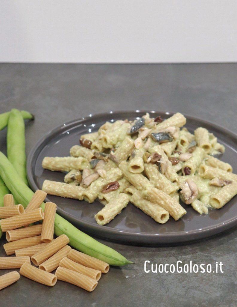 7231B6AD-E98D-4098-A7BE-C018BA7C446C-792x1024 Maccheroni Integrali con Pesto di Fave, Sgombro e Olive Taggiasche
