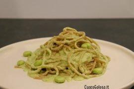 Spaghetti Integrali con Pesto di Fave