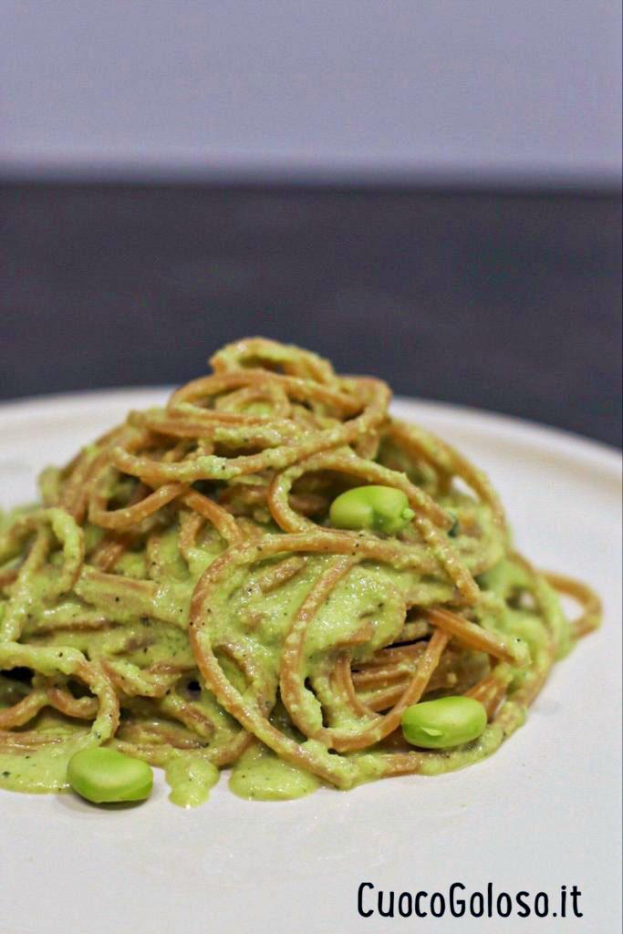 pestodifave3 Spaghetti Integrali con Pesto di Fave