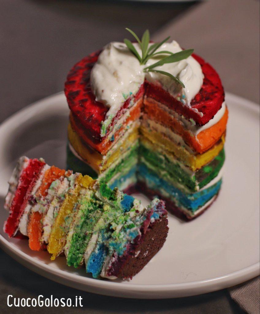 C22823FC-C63F-4D11-AEE4-7B6FE9D548C9-848x1024 Rainbow Pancakes Salati con Crema di Formaggio Caprino e Limone