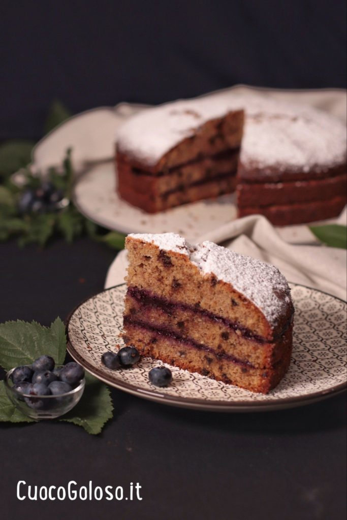 25F14344-8D84-4E9C-BDCF-52D8F28E5FE6-683x1024 Torta con Grano Saraceno, Cioccolato, Nocciole e Confettura di Mirtilli