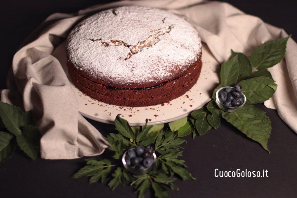 69D42364-AB7B-4226-A68C-BA9D51EFB421-1024x683 Torta con Grano Saraceno, Cioccolato, Nocciole e Confettura di Mirtilli