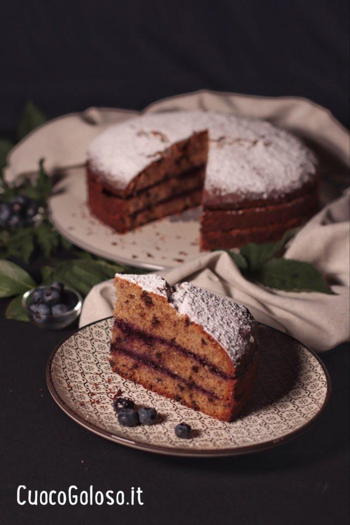D07E4A6C-DFFA-4738-A639-A4753AE2B5B2-683x1024 Torta con Grano Saraceno, Cioccolato, Nocciole e Confettura di Mirtilli