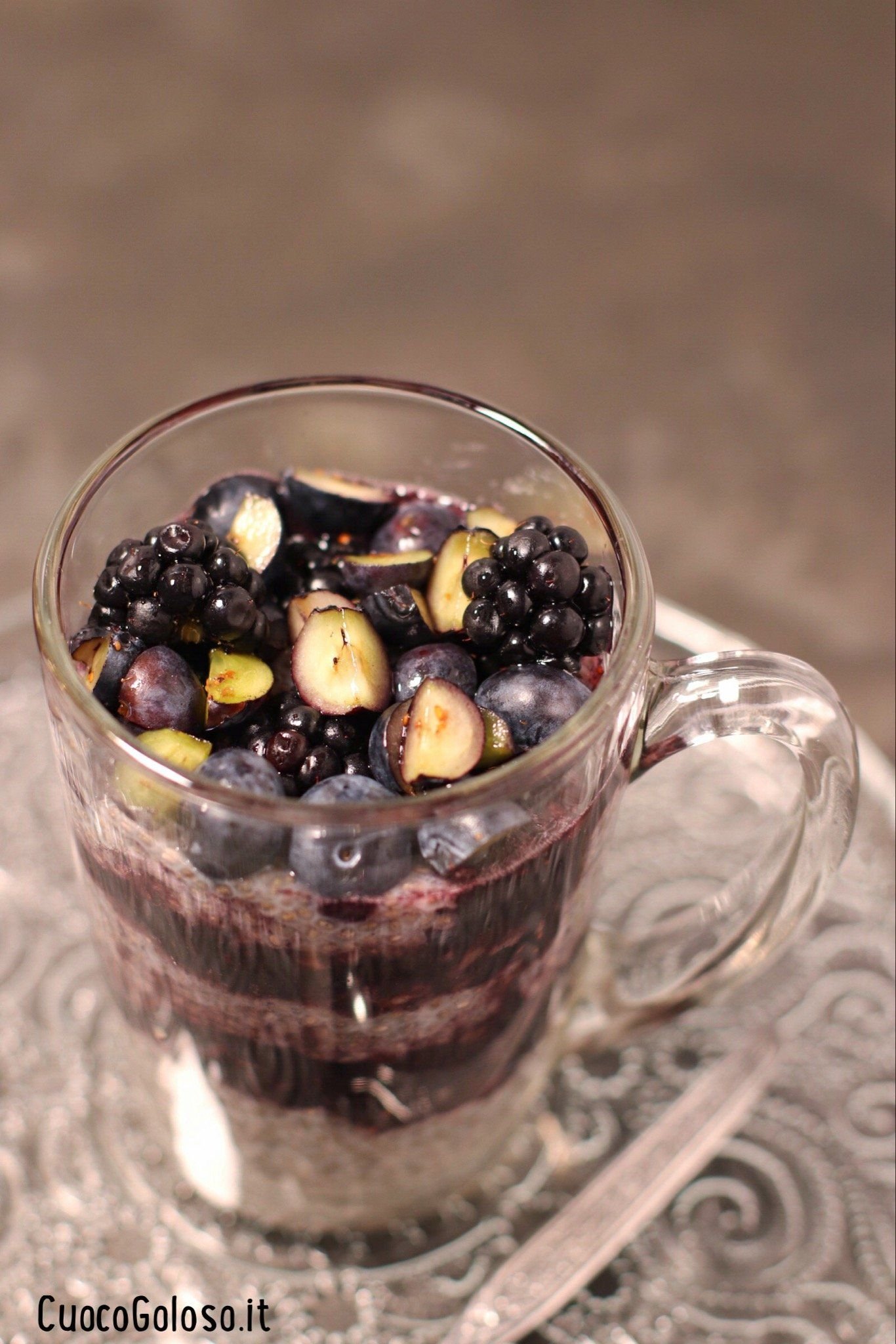 Chia Pudding con More e Mirtilli