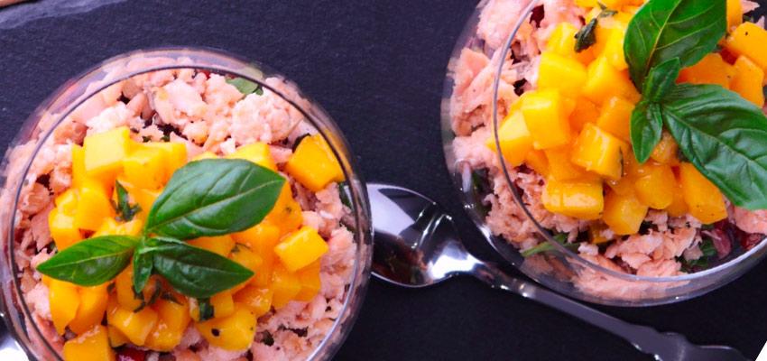 SITO-2 Insalata di Risi Scuri e Verdure con Salmone e Mango