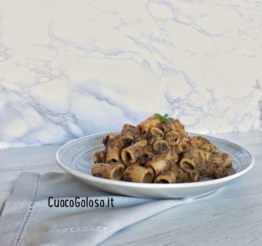 IMG_3099-1024x962 Mezzi Rigatoni con Crema di Melanzane e Pesto