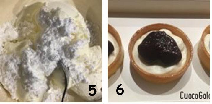 blocco3 Crostatine con Crema al Formaggio e Frutti di Bosco