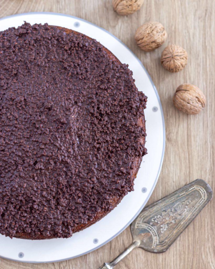 IMG_5043-819x1024 Torta con Stracchino, Noci e Glassa Croccante al Cioccolato