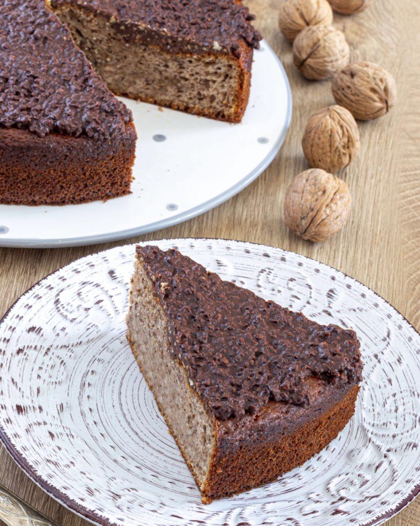 IMG_5045-819x1024 Torta con Stracchino, Noci e Glassa Croccante al Cioccolato