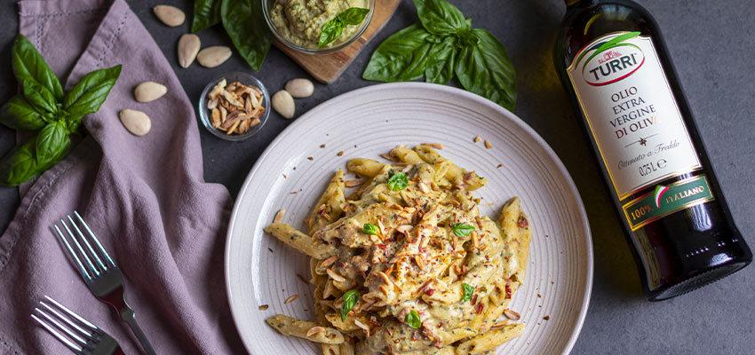 BLOG-1-1-850x400 Penne con Pesto di Ceci e Pomodori Secchi, gusto e benessere