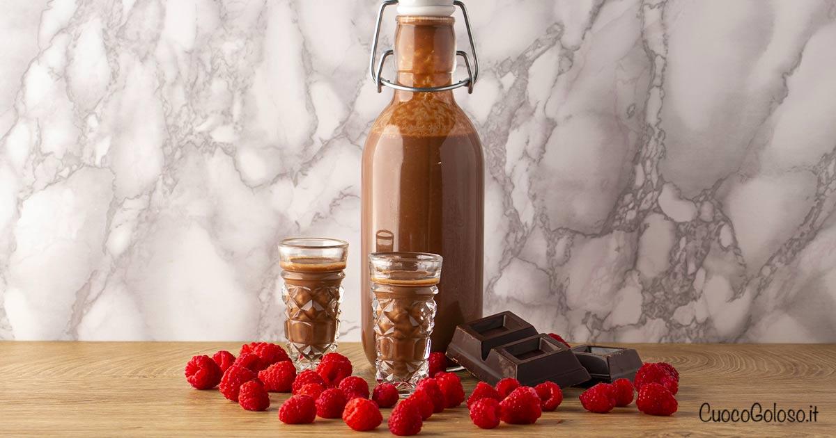 Liquore al Cioccolato e Lamponi